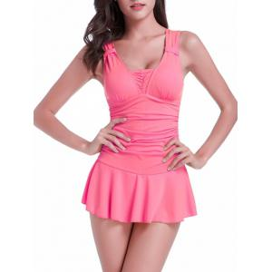 Skired Ruched One-Piece Swimwear