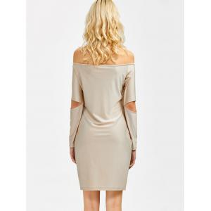 Off The Shoulder Cut Out Bodycon Dress -