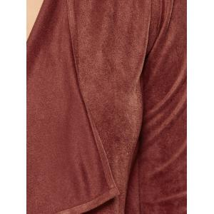 Plus Size Suede Coat - BROWN XL