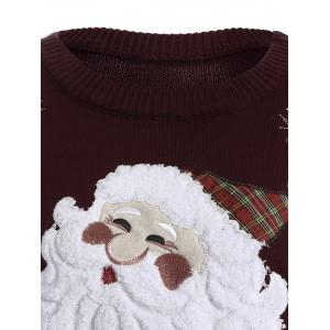 Santa Claus Snowflake Christmas Swearer - WINE RED ONE SIZE
