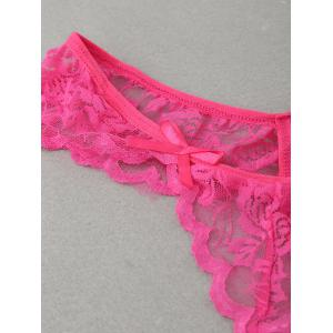 Sheer Bowknot Lace G-Strings -