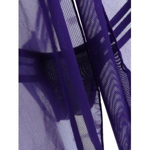 Criss-Cross Cut Out Sheer Babydoll - PURPLE ONE SIZE