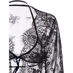 Sheer Wrap Lace Babydoll -