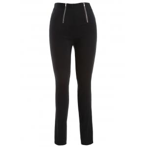 Plus Size Zip Skinny Pencil Pants - Black - 2xl