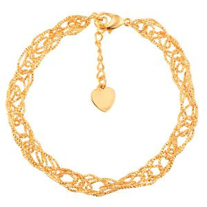 Gold Plated Hollow Out Filigree Bracelet
