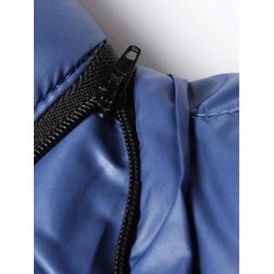 Detachable Hooded Zip Up Thicken Down Jacket -