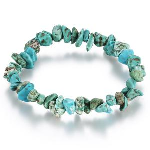 Natural Stone Turquoise Bracelet - Lake Green - One Size