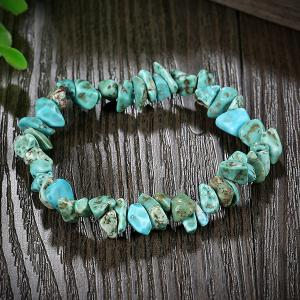 Natural Stone Turquoise Bracelet - LAKE GREEN