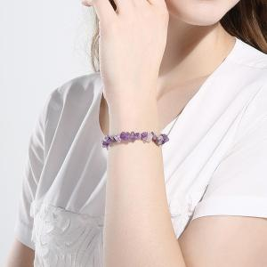 Geometry Natural Stone Bracelet - PURPLE