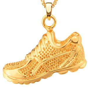 Sport Shoes Shape Zircon Pendant Necklace -