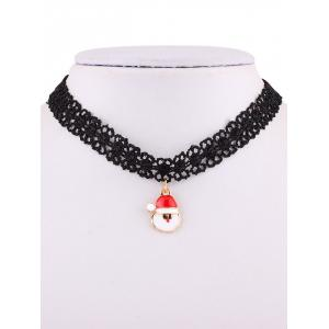 Lace Santa Choker Necklace -