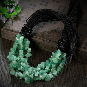 Natural Stone Beads Necklace - GREEN
