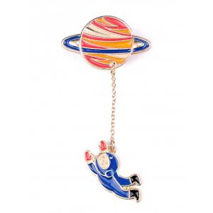 Star Moon Rocket Spaceman Brooch Set -