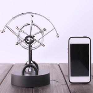 Electric Perpetual Wiggler Office Newton Pendulum Ball - SILVER