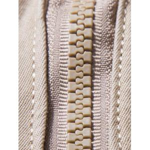 Plus Size Zipper Fly Multi Pockets Design Cargo Pants - LIGHT KHAKI 40