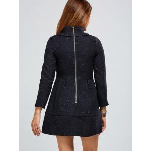 Zip Back A Line Tweed Dress -