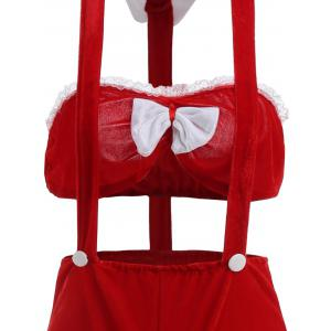 Two Piece Velvet Holiday Christmas Cosplay Costume -