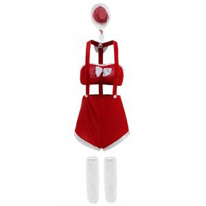 Two Piece Velvet Holiday Christmas Cosplay Costume