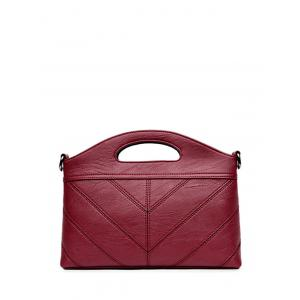 Concise PU Leather Stitching Handbag