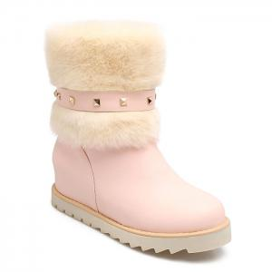 Rivet Faux Fur Snow Boots