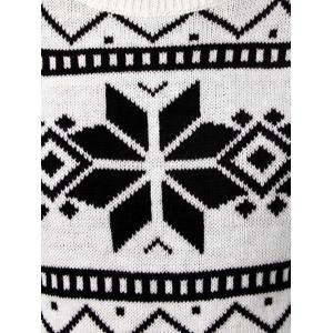Deer and Snowflake Pattern Long Sleeve Sweater - WHITE 2XL