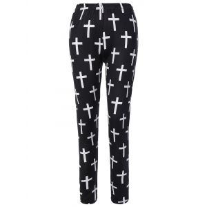 Cross Patterned Pants