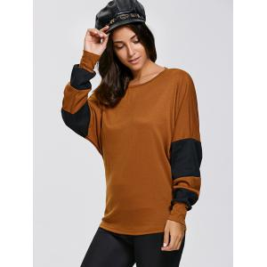 Batwing Sleeve Colour Block T-Shirts -