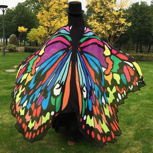 Butterfly Wing Cape Scarf - COLORFUL