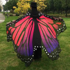 Butterfly Wing Cape Scarf - RED