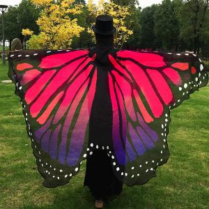 Butterfly Wing Cape Scarf - Red - 6xl