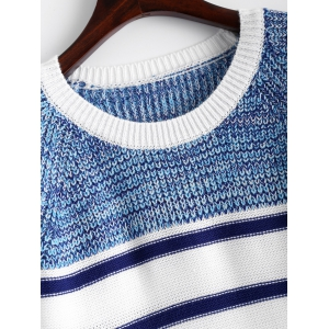 Pullover Striped Sweater - WHITE ONE SIZE