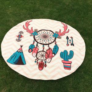 Christmas Dreamcatcher Tribal Round Beach Throw