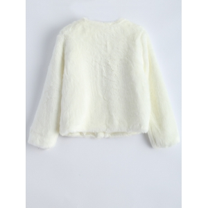Short Shearling Faux Fur Jacket -