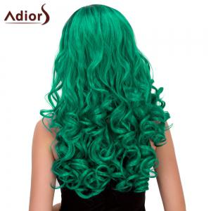 Adidas Long Fluffy Wavy Oblique Parting Cosplay perruque synthétique -