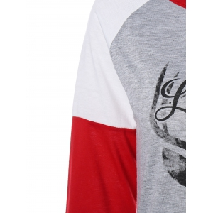 Christmas Letter Deer T-Shirt - RED L
