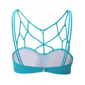 Full Coverage Strappy Cut Out Sports Bra -