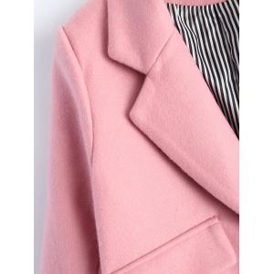 Lapel Candy Color Pea Coat -
