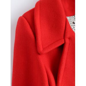 Candy Color Wool Blend Coat with Pockets -