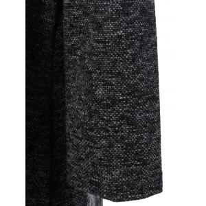 Roll Neck Long Sleeve Mini Jumper Dress - DEEP GRAY ONE SIZE