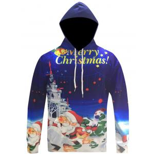 3D Print Kangaroo Pocket Christmas Patterned Hoodies