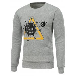 Crew Neck Pullover Graphic Sweatshirt