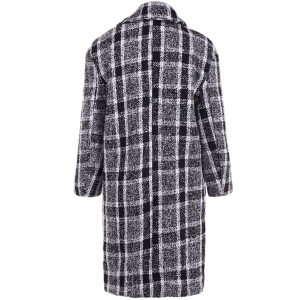 Flap Pocket Checked Coat -