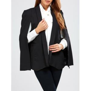 Open Front  Pocket Cape Blazer