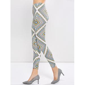 Printed High Waist Leggings - COLORMIX XL