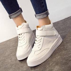 Lace-Up High Top Athletic Shoes -
