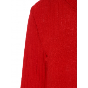 Knitted Cropped Sweater - RED XL