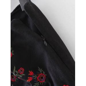 Embroidered A Line Mini Skirt -