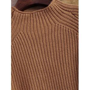 High-Low Cut Out High Neck Sweater -