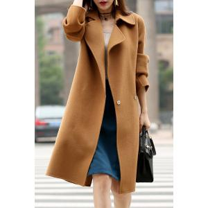Back Slit Wool Long Coat