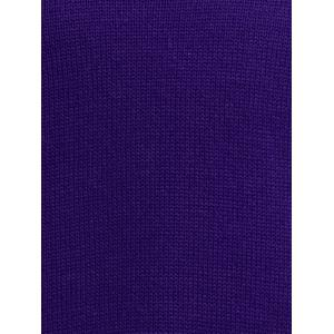 Scoop Neck Relaxed Sweater - VIOLET ONE SIZE